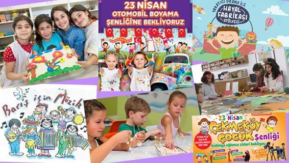 çocuk Bayramına özel şarkılı Oyunlu Etkinlikler